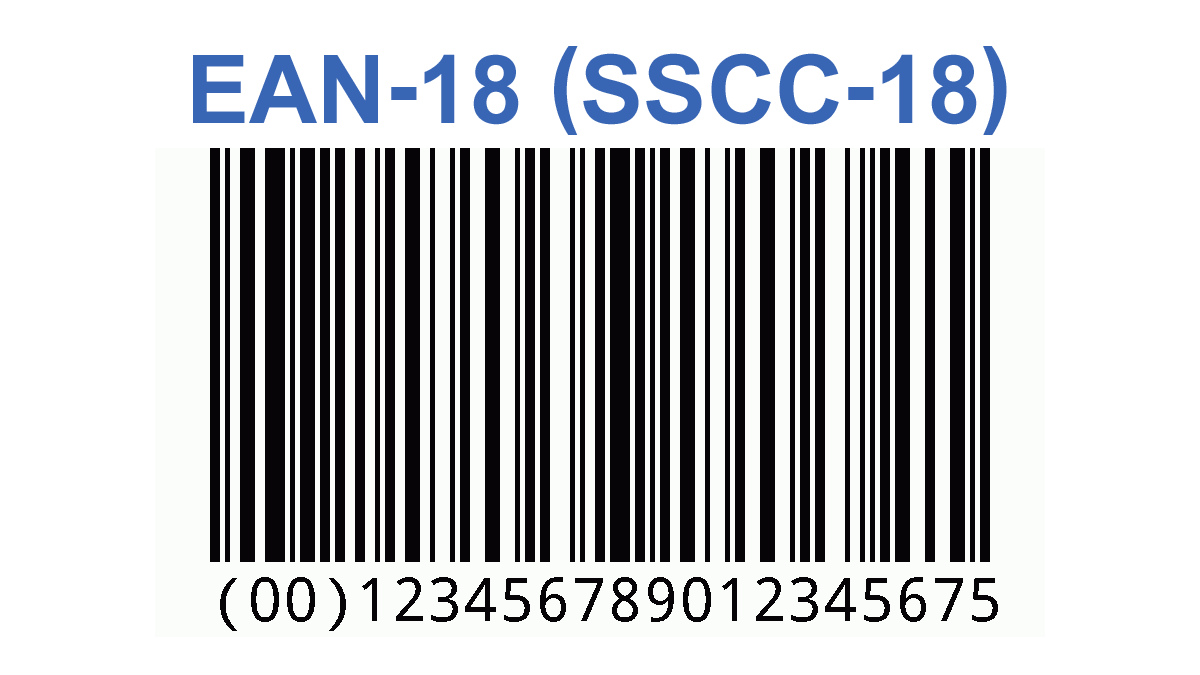 EAN-18 (SSCC-18) free barcode generator with bar width reduction